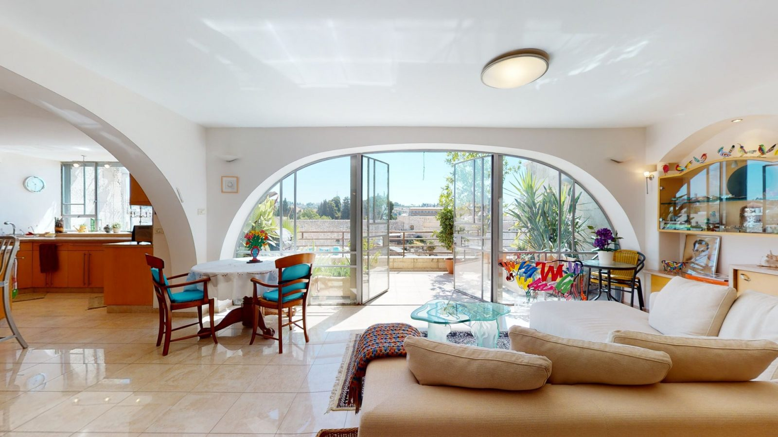 A Home with Direct View of the Kotel from Every Room